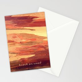 Knock on wood Stationery Cards