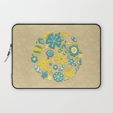 Little Flower Circle Laptop Sleeve