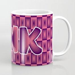 Pink square pattern 70's disco style Coffee Mug
