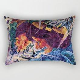 Visioni simultanee - Simultaneous Vision by Umberto Boccioni Rectangular Pillow