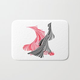 tango for two minimal abstract digital painting Bath Mat