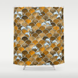 Wave Jumpers (Amber) Shower Curtain