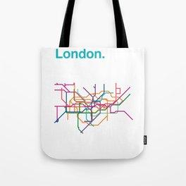 London Transit Map Tote Bag
