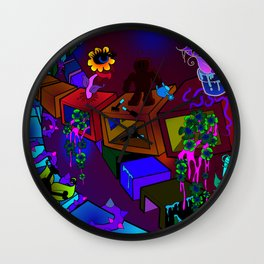 The eternal gardener Wall Clock