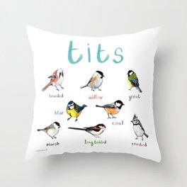 Tits Illustration Throw Pillow