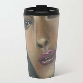 Lady in Green Travel Mug