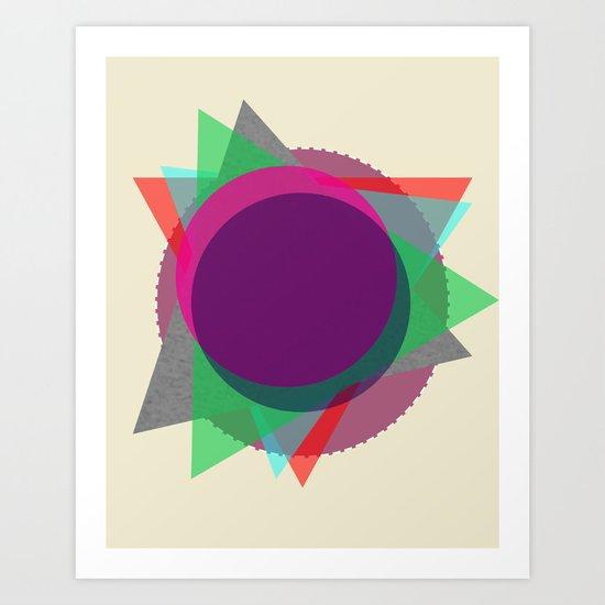 Random Circle's and Triangle's Art Print