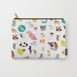 Pattern of dogs, adorable and friendly animal. Carry-All Pouch