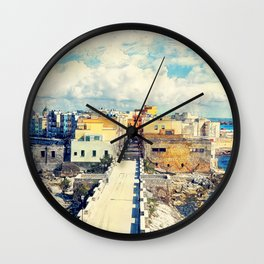 Trapani art 18 Sicily Wall Clock