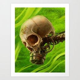 Biohazard Skull Art Print