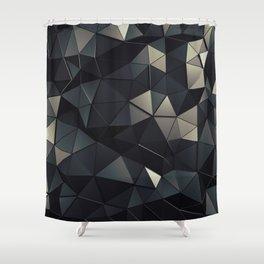 Polygon Noir Shower Curtain