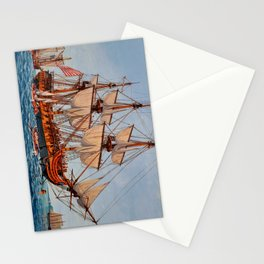 Revolutionary Painting of the Frigate Confederacy Stationery Cards