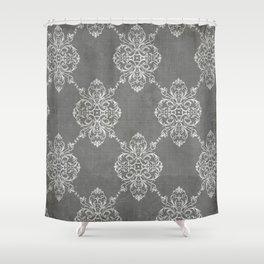 Vintage Damask - Charcoal Shower Curtain