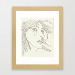 Caught in the Wind Framed Art Print