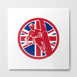 British Linesman Union Jack Flag Icon Metal Print