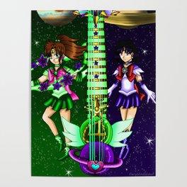 Fusion Sailor Moon Guitar #32 - Sailor Jupiter & Sailor Saturn Poster