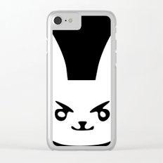 Blak/Whait WhamBit Clear iPhone Case