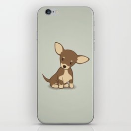 Chihuahua Puppy Illustration iPhone Skin