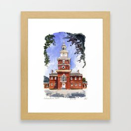 Independence Hall Framed Art Print