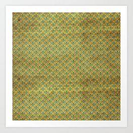 Modern take on Classics - Green, Blue and Gold Art Print