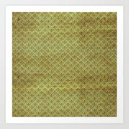 Modern take on Classics - Green, Blue and Gold Art Print