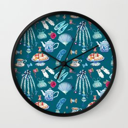 what would jane do, Jane Austen Quote, watercolor Jane Austen art Wall Clock