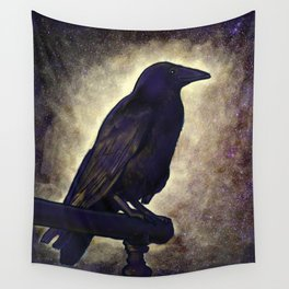 Black Raven of Peace Wall Tapestry