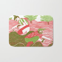 Planting Plants Bath Mat
