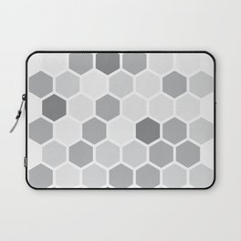 Texture hexagons - Shades of Grey Laptop Sleeve