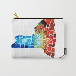 New York - Map By Sharon Cummings Carry-All Pouch