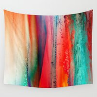 ice Wall Tapestries featuring Ice Curtain by Klara Acel