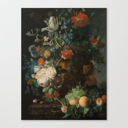 Bouquet of Flowers in an Urn Jan van Huysum (Holland, 1682-1749) 2 Canvas Print