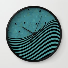 Dark turquoise , combined patchwork Wall Clock