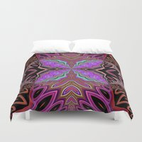 tiki Duvet Covers featuring Tiki  by Lyn Wiegand