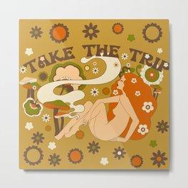 Take The Trip Orange Metal Print