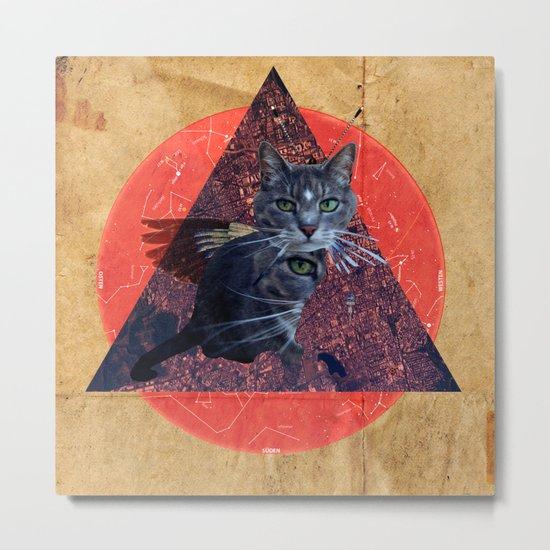 Cat Land Flight Metal Print