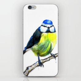 Blue Tit in Ink iPhone Skin
