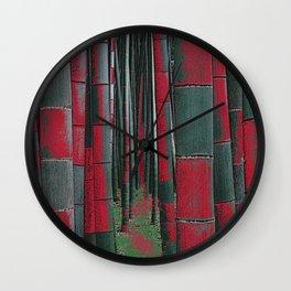 Bamboo Checker Board -1 Wall Clock