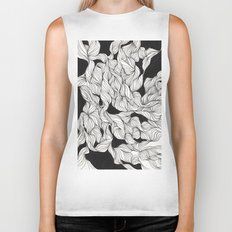 Abstract curlicues Biker Tank