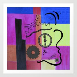 avant-garde still life . artwork Art Print