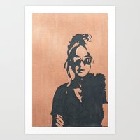 sunglasses Art Prints featuring sunglasses by mary grace