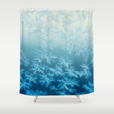 blue ombre frost Shower Curtain