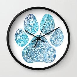 Paw print mandala Wall Clock