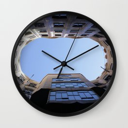 Barcelona Photography - Casa Mila La Pedrera Wall Clock