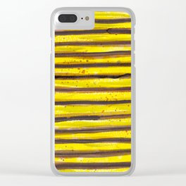BUMBLE BEE SWIRL Clear iPhone Case