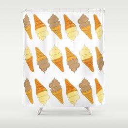 icecream pattern Shower Curtain