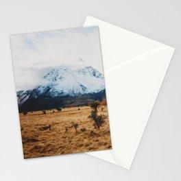 Peaceful New Zealand mountain landscape Stationery Cards