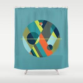 Scenarios, No. 2 on Blue Shower Curtain