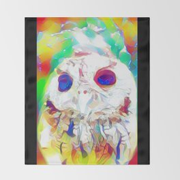 Rainbow Owl Throw Blanket