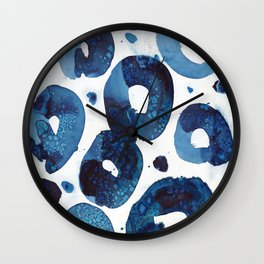 Connected blue circles Wall Clock